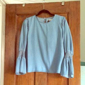 Zara never worn premium denim collection blouse